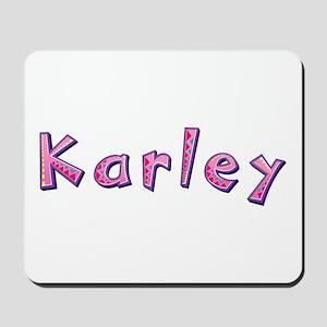 Karley Pink Giraffe Mousepad