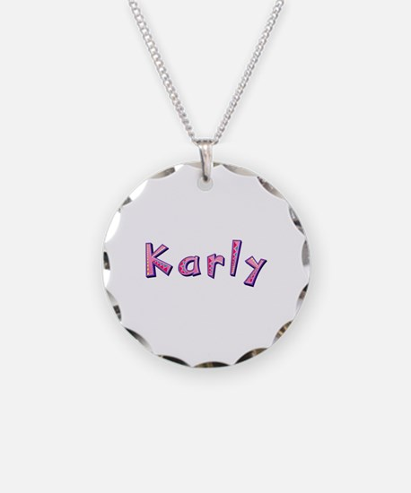 Karly Pink Giraffe Necklace
