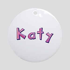 Katy Pink Giraffe Round Ornament