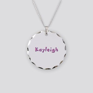 Kayleigh Pink Giraffe Necklace Circle Charm