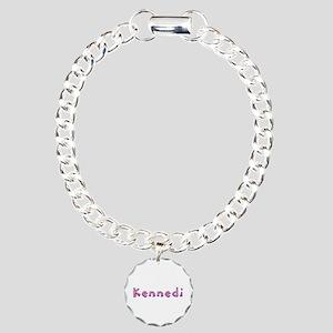 Kennedi Pink Giraffe Charm Bracelet