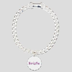 Krista Pink Giraffe Charm Bracelet