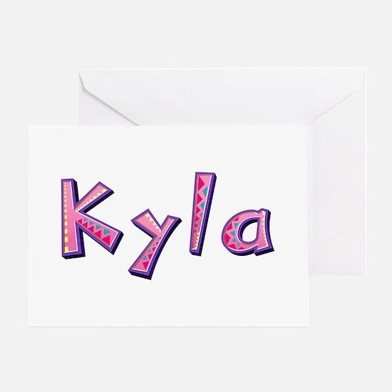 Kyla Pink Giraffe Greeting Card