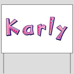 Karly Pink Giraffe Yard Sign