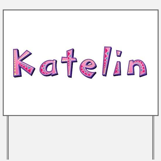 Katelin Pink Giraffe Yard Sign