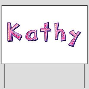 Kathy Pink Giraffe Yard Sign