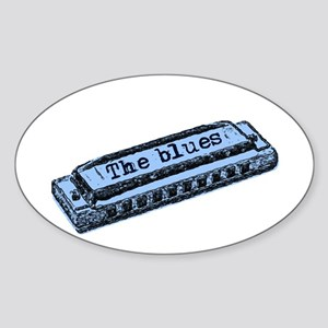 The Blues Harp Oval Sticker