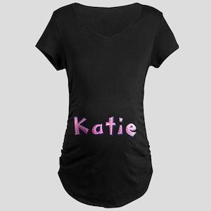 Katie Pink Giraffe Maternity Dark T-Shirt