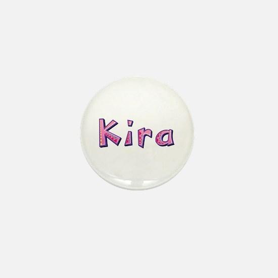 Kira Pink Giraffe Mini Button