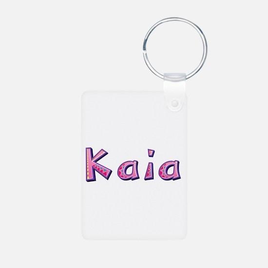 Kaia Pink Giraffe Aluminum Keychain