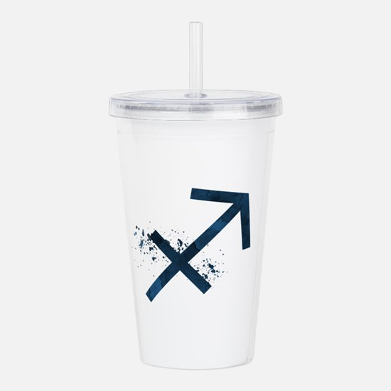 Sagittarius (astrology Acrylic Double-wall Tumbler