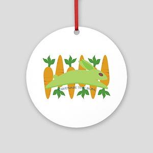 Gwennie The Bun Carrots Ornament (Round)