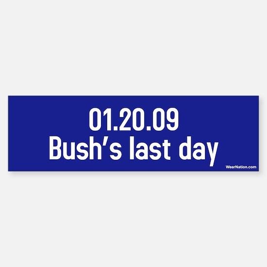 01.20.09 bushs last day Bumper Car Car Sticker