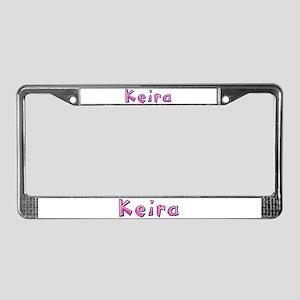 Keira Pink Giraffe License Plate Frame