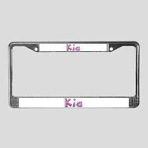 Kia Pink Giraffe License Plate Frame