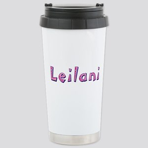 Leilani Pink Giraffe Stainless Steel Travel Mug
