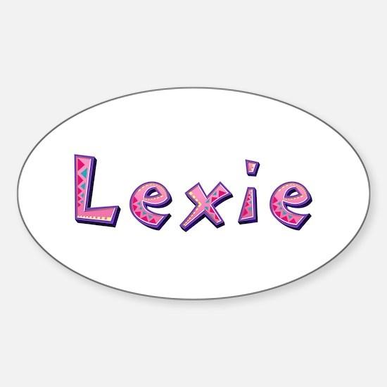 Lexie Pink Giraffe Oval Decal