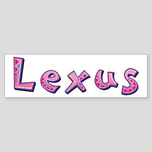 Lexus Pink Giraffe Bumper Sticker