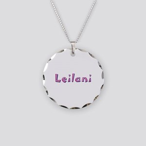 Leilani Pink Giraffe Necklace Circle Charm