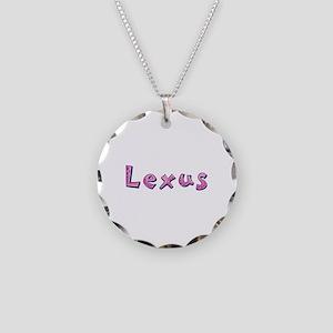 Lexus Pink Giraffe Necklace Circle Charm