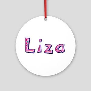 Liza Pink Giraffe Round Ornament