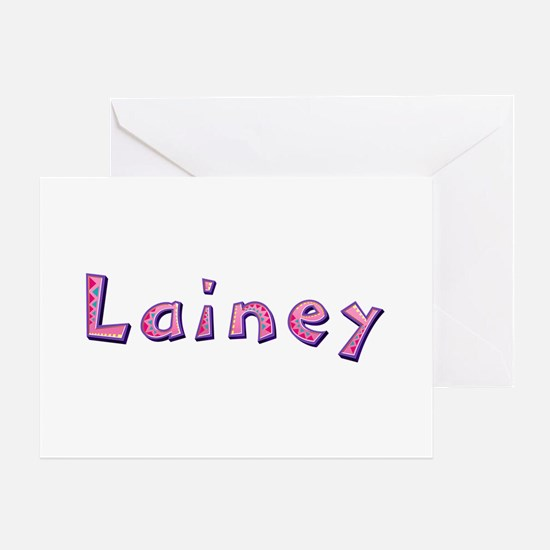 Lainey Pink Giraffe Greeting Card