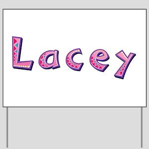 Lacey Pink Giraffe Yard Sign