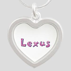 Lexus Pink Giraffe Silver Heart Necklace