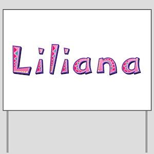 Liliana Pink Giraffe Yard Sign