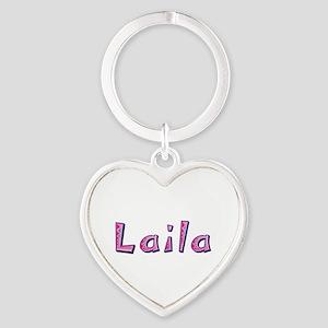 Laila Pink Giraffe Heart Keychain