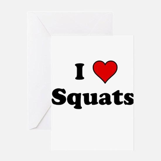 I Heart Squats Greeting Cards