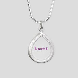 Lexus Pink Giraffe Silver Teardrop Necklace