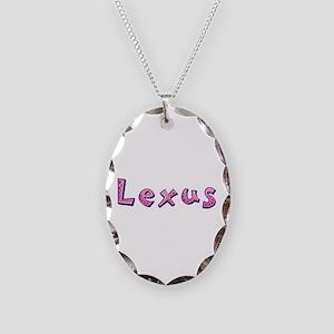 Lexus Pink Giraffe Oval Necklace