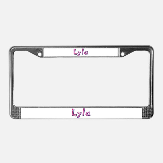Lyla Pink Giraffe License Plate Frame