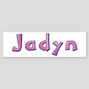 Jadyn Pink Giraffe Bumper Sticker