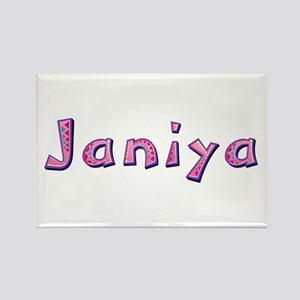 Janiya Pink Giraffe Rectangle Magnet