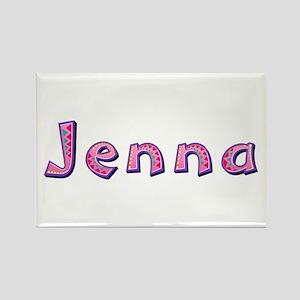 Jenna Pink Giraffe Rectangle Magnet