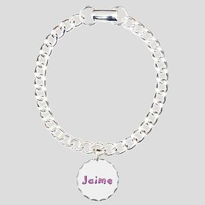 Jaime Pink Giraffe Charm Bracelet