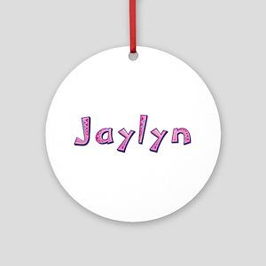 Jaylyn Pink Giraffe Round Ornament