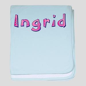 Ingrid Pink Giraffe baby blanket