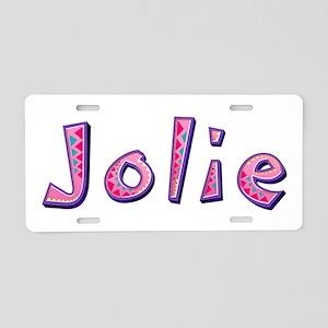Jolie Pink Giraffe Aluminum License Plate