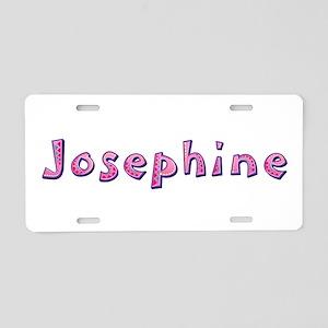 Josephine Pink Giraffe Aluminum License Plate