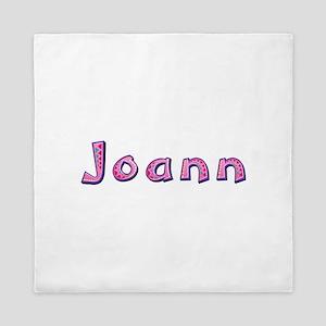 Joann Pink Giraffe Queen Duvet