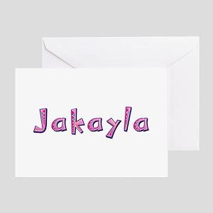 Jakayla Pink Giraffe Greeting Card