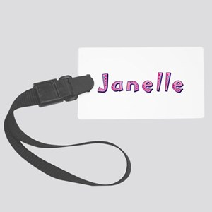 Janelle Pink Giraffe Large Luggage Tag