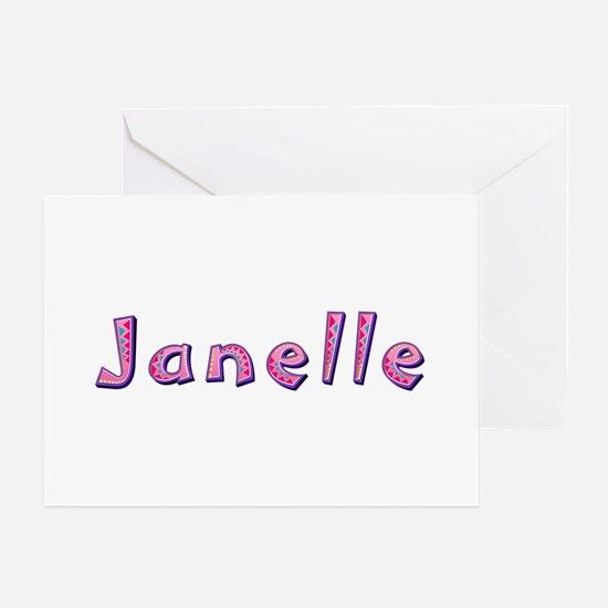 Janelle Pink Giraffe Greeting Card