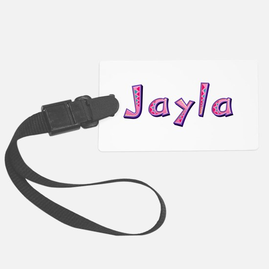 Jayla Pink Giraffe Luggage Tag