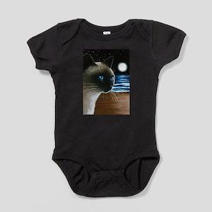 Cat 396 siamese Baby Bodysuit