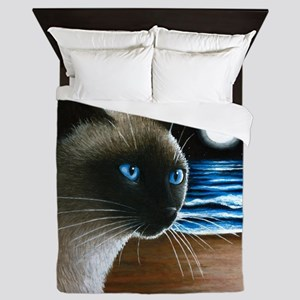 Cat 396 siamese Queen Duvet