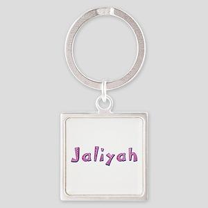 Jaliyah Pink Giraffe Square Keychain